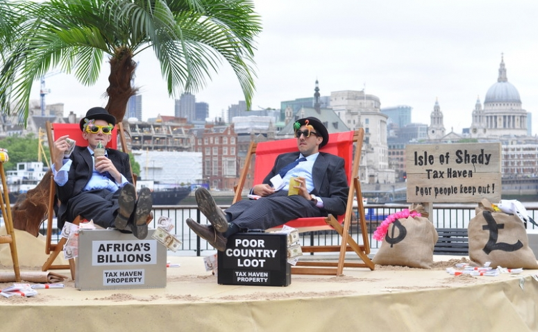 Tax haven stunt by ActionAid