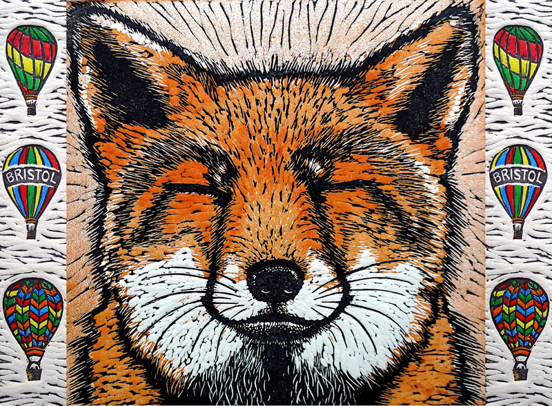 """Bristol Fox"" - winning design by Mary Collett"