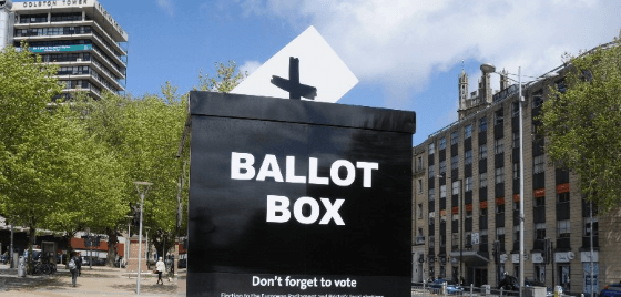 Bristol Mayoral Election 2016 ballot box